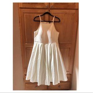 Chi Chi London Dresses - | Ivory A-line Tea Length Dress |